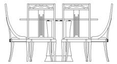 Tavoli in prospetto dwg for Arredi 3d dwg