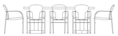 Tavoli in prospetto dwg - Dwg tavolo con sedie ...
