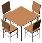 Tavoli 3d tavoli dwg tavoli con sedie - Tavolo con sedie dwg ...