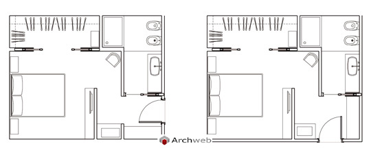 Archweb camera da letto casamia idea di immagine camera da letto dwg - Letto prospetto dwg ...
