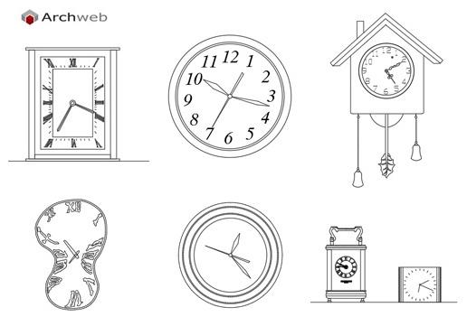 orologio dwg