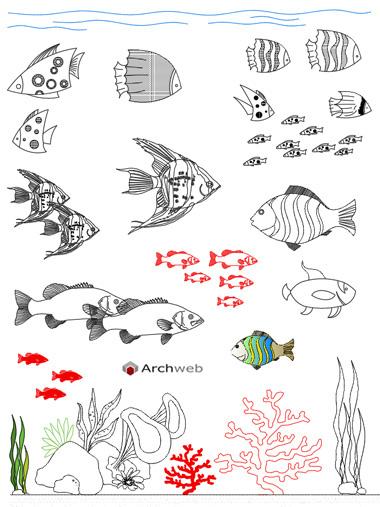 Acquario dwg aquariums drawings for Arredi dwg gratis