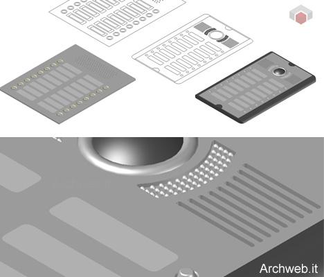 Citofono dwg interphone drawings for Archweb arredi