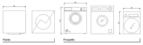 Lavatrici 2d lavabiancheria dwg for Lavastoviglie misure standard