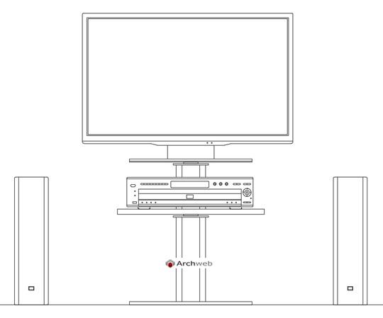 Televisori 2d dwg disegni cad televisori lcd for Blocchi arredi autocad