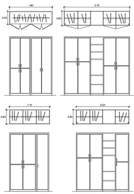 Schema semplice di armadio al 100