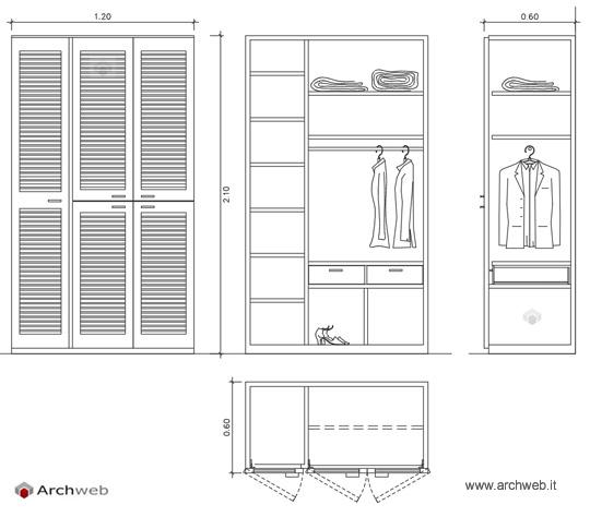 Armadi cabine armadi dwg for Porte archweb