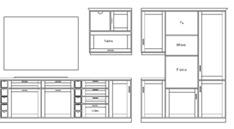 cucine 2d - disegni di cucine in dwg (1) - Disegnare Cucina 3d