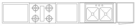 cucine 2d - componenti cucina dwg (4) - Componenti Cucina