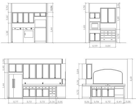 129 Arredi Dwg Gratis - pareti attrezzate moderne 2d mobili ...