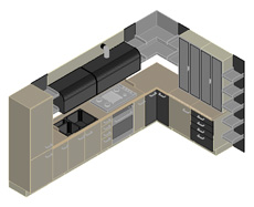 Cucine 3d kitchen dwg for Letto 3d dwg