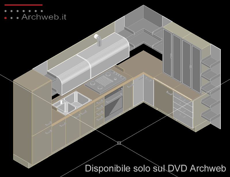 Cucine 3d kitchen dwg for Arredi 3d dwg
