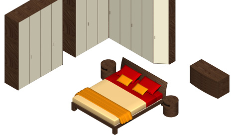 Bed Dwg Double Bed 3d
