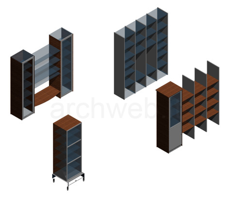 Librerie 3d dwg for Autocad arredi