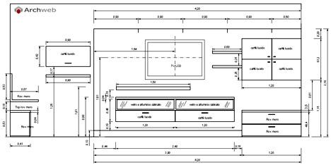 Pareti attrezzate 2D - Mobili per soggiorno