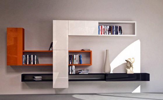 Pareti attrezzate moderne 2d mobili per soggiorno for Arredi per pareti