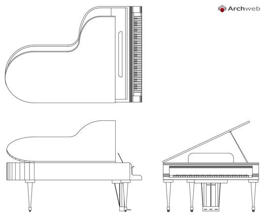 Pianoforti 2d Dwg