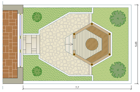 Gazebo 2d 3d gazebo dwg for File cad di casa
