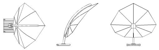 Parasol drawings umbrellas dwg umbrosa dwg for Arredi dwg gratis