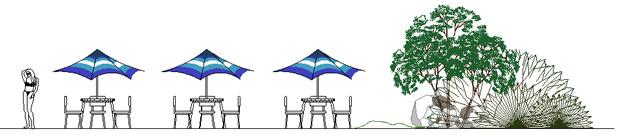 Ombrelloni 2d disegni dwg for Arredi archicad