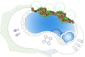 Piscine casa 2d piscine residenziali dwg for Piccole planimetrie interrate