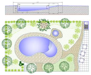 Piscine casa 2d piscine residenziali dwg for Arredo giardino dwg