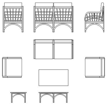 Tavoli giardino dwg 2d for Arredo giardino dwg