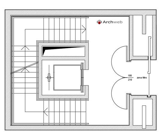 Blocchi scala con ascensore for Dimensioni ascensore