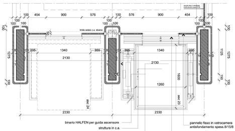 Ascensori panoramici dwg ascensori vetro dwg elevator dwg for Dimensioni ascensore