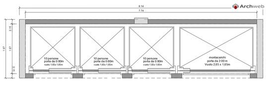 Ascensori dwg sezioni orizzontali for Ascensore dimensioni