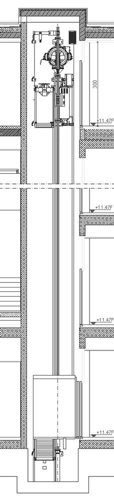 Ascensori dwg sezioni verticali for Schema fossa imhoff dwg
