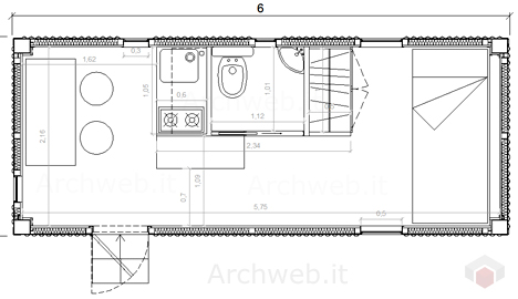 Container da cantiere for File cad di casa