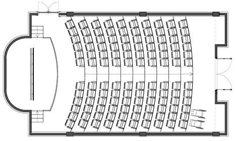 Dimensioni Poltrone Teatro.Auditorium Dwg Music Center