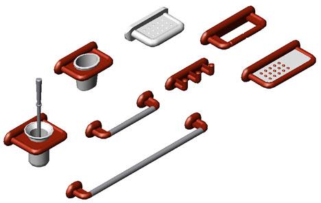 accessori bagno 3d - portasaponi 3d dwg - Arredo Bagno 3d