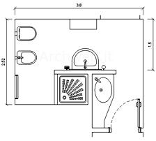 Bagni completi progetti di bagni cad dwg 3 - Bagno con antibagno ...