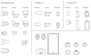 Bagno bambini dwg idee creative di interni e mobili - Dimensioni water piccolo ...