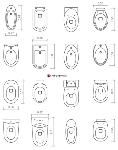 Blocchi sanitari 2 bathroom dwg for Arredi cad