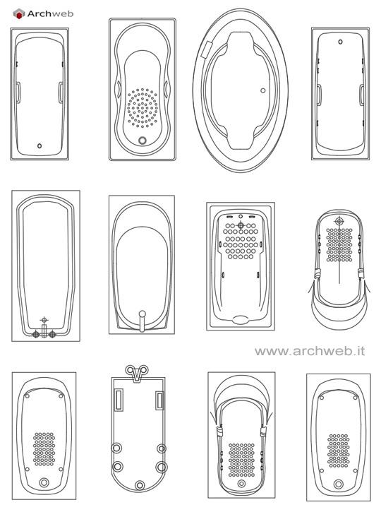 Blocchi Cad Bagno Turco: Disegno bagni ? arredi bagno dwg immagini ispiratrici di design per il ...