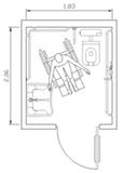 Bagni pubblici dwg servizi igienici dwg 1 - Dimensioni minime bagno disabili ...