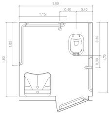 Stunning Bagni Disabili Misure Minime Photos - New Home Design 2018 ...