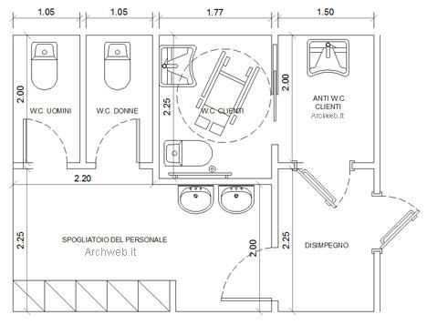 Bagni pubblici dwg servizi igienici per il pubblico 2 for Porte archweb