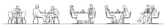Autocad dining room tables for restaurants for Tavoli ristorante dwg
