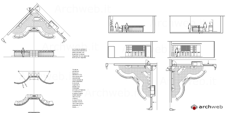 Bar 2d - bar dwg - progetti bar caffetteria - banconi bar