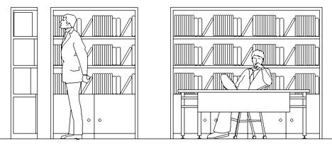 Biblioteche 2 for Arredi biblioteche
