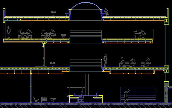 Biblioteche spazi dimensioni e arredi for Finestra scala 1 50