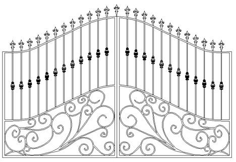 Cancelli In Ferro Battuto Gates Dwg 5