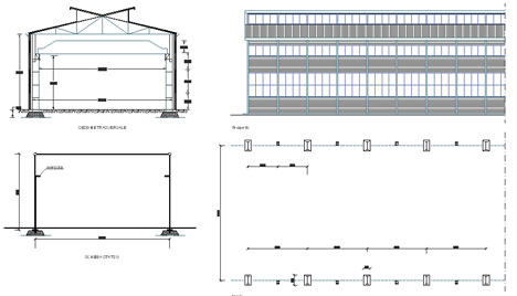 Capannoni magazzini depositi dwg for Planimetrie capannone