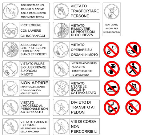 Cartelli Di Sicurezza Dwg 626 Simboli Dwg