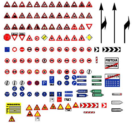 Cartelli stradali dwg cartellonistica e segnali dwg for Cartelli antincendio dwg