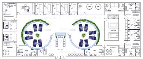 Schema progetto per un centro benessere : Ingresso, attesa, spazi per ...
